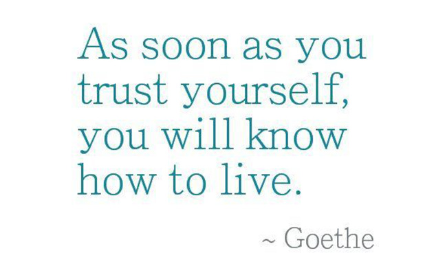 Trusting Yourself Again